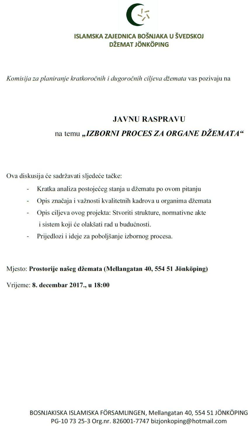 JAVNA RASPRAVA 8. DECEMBAR